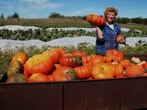 Sherry with pumpkins